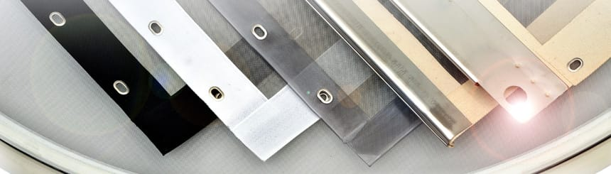 edged screen composite with hooks