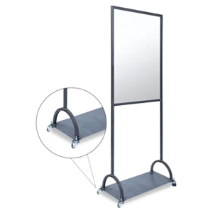 Portable Barrier with Casters